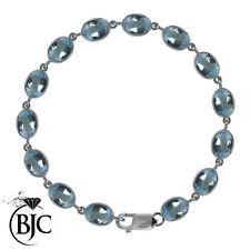 "Topaz Sterling Silver Fine Bangles 7.5 - 7.99"" Length"