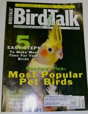 **BIRD TALK MAGAZINE Jan 99 Hyacinth Macaw Sick Birds Cockatiel Parakeet African