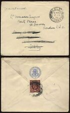 LONDON and N.E. RAILWAY ENVELOPE GB KG5 Stamp used as seal..ILKLEY