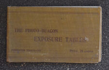 Vintage Photo Beacon Company Booklet  Exposure Tables - 1902 manual camera guide