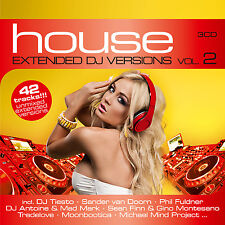CD House Extended DJ Versione 2 di Various Artists 3 CD
