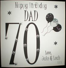 PERSONALISED HANDMADE DAD 30TH 40TH 50TH 60TH 70TH 80TH 90TH BIRTHDAY CARD