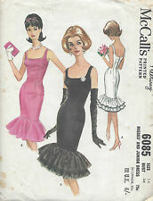1961 Vintage Sewing Pattern B34 WIGGLE DRESS (R920)