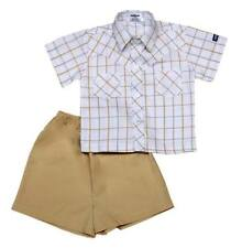 Oshkosh B'gosh Checkered Polo with Short Set (OCSS #21) - Size: 9 months
