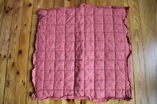 """West Elm Linen Pink Quilted Euro Sham Pillow Case Cover 26"""" Square"""