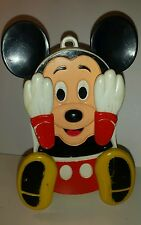 Vintage Mickey Mouse Peek A Boo Baby Crib Toy Musical Disney Illco Wind-up