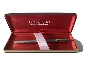 Vintage Sheaffer Imperial Silver Chrome Pen Engraving Carved Unique Rare