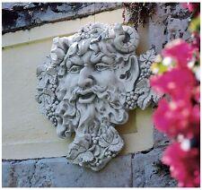 "Bacchus 12""H Roman Greenman God of Woods Deity Wall Sculpture Plaque NEW"