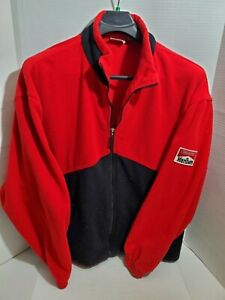 Mens 2 XL Marlboro Red Jacket Long Sleeve Zipper Collar Pockets Logo