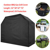 "32""58""67""75""Heavy Duty BBQ Gas Grill Cover Outdoor Barbecue Cover Waterproof  UV"