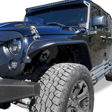 07-17 JEEP WRANGLER JK UNLIMITED TUBE TEXTURED STYLE FENDER FLARES STEEL