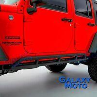 4 Door Model Rock Crawler Side Slider Armor Rocker Guards fit 07-17 Jeep Wrangle