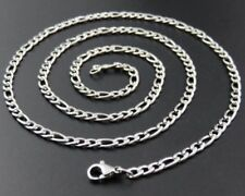 """3mm 27.5"""" 70 cm Stainless Steel Figaro necklace Chain Pendant Silver Tone stnF3S"""