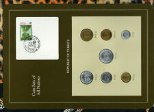 Coin Sets of All Nations Turkey 1987-1989 UNC 10,25 Lira 1988 1,5 Lira 1987