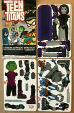 2003 Teen Titans Promo Z-Cards Lot - Raven Cyborg Beast Boy Cartoon Network Dc