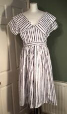 Vintage French Handmade Dress 50s Style Size L Remake Alter