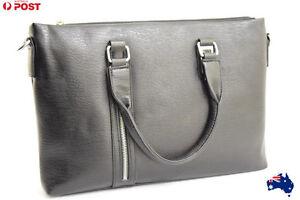 Mens Satchel Cross body Shoulder Bag Leather Handbag Briefcase laptop Sleeve