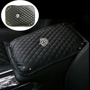 Leather Car Armrest Pad Cover Center Console Box Cushion Mat Auto Accessories