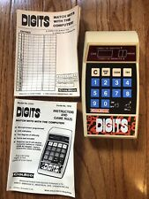 Vintage Coleco 1978 Digits Hand Held Game Tested- Working