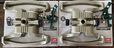 New listing 2 Pk Orbit Pro Contractor Grade Metal impct Sprinkler And Base