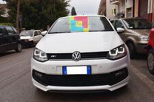 VW POLO 6R 2009+ FARI ANTERIORI LED TUBE-U NERO LED + KIT XENON