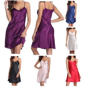 *NEW* UK MultiPack Women's Silky Soft Satin Chemise Nightdress Sleepwear