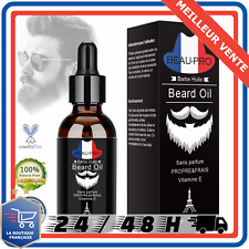 HUILE À BARBE BEARD OIL BIO HUILE DE RICIN favorise la pousse, Hydrate, Adoucit