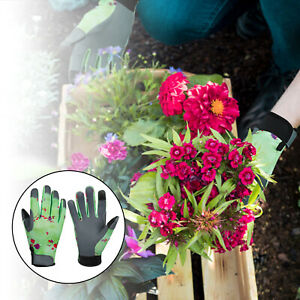 1Pairs Garden Gloves Safety Gloves Leather Protective Gifts for Women Men