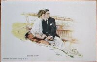 Howard Chandler Christy/Artist-Signed 1908 Glamour Postcard: Nautical Couple