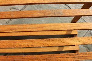 Antique Slatted Mission Oak SideTable Shelf c.1915 Stickley Roycroft Era Unmarkd