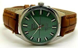 genuine hmt pilot hand winding men's parashock steel vintage watch working order