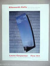 Ellsworth Kelly - Laura Carpenter Art Gallery Exhibit PRINT AD - 1992