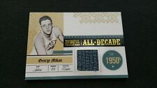 GEORGE MIKAN 2009-10 PLAYOFF NATIONAL TREASURES ALL DECADE MATERIALS JERSEY #/99