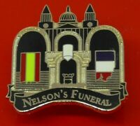 Danbury Mint Enamel Pin Badge Life of Horatio Nelson Nelson's Funeral St Paul's