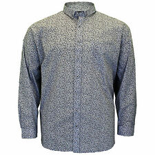 170c3166d13 Mens Big Size Cotton Valley Floral Long Sleeve Casual Collared Shirt 3XL 4XL  5XL
