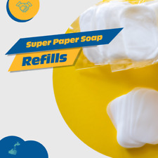Super Paper Soap Sheets Portable Refills Easily Wash Hands Add Water USA Shipper