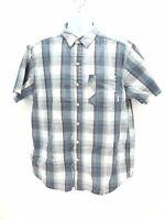 Columbia Omni Wick Plaid Button Up Short Sleeve Shirt Men's Large Regular