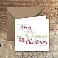 PERSONALISED CHRISTMAS CARDS,LOCKDOWN,QUARANTINE PK of 5