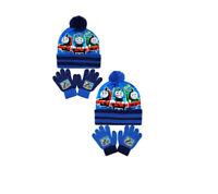 Official Kids Thomas & Friends Bobble Hat & Gloves Set - 2 Colours