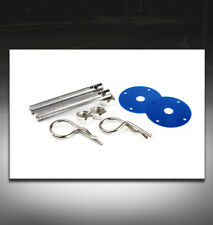 UNIVERSAL HOOD PINS LOCK KIT JDM BLUE CSX EL MDX RDX RL A3 A5 S5 Z3 Z4 DTS ION