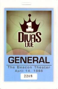 CELINE DION / MARIAH CAREY 1998 VH1 DIVAS LIVE LAMINATED GENERAL BACKSTAGE PASS