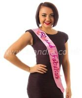 "50th Happy Birthday Party Pink Flashing Sash "" 50 and Fabulous"" Gift present"