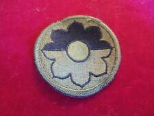 10 1989 US ARMY 9TH INFANTRY DIVISION SUBDUED SSI PATCHES MINT UNSEWN
