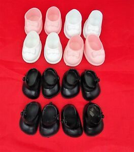 Cinderella Doll Shoes 4 Pairs for Small Dolls, Sizes 04 & 05,