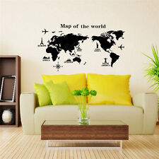 Removable Map of The World Wall Sticker Wallpaper Kid Boy's Room DIY Decor Decal