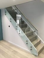 Stainless Steel Side Fix Glass Clamp Adapters. Balustrade and Handrail Fittings