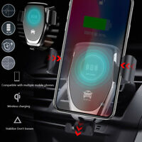 For Samsung S20 S10 Plus Wireless Car Charger Fast Charging Automatic Clamping