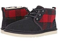UGG Boots MEN Neumel Plaid Winter BOOTS BLACK + PLAID Boot Size 9