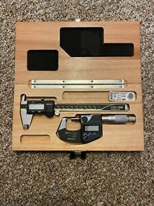 Mitutoyo Digital Caliper and Micrometer set w/ case (USED ONCE)