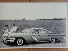 "12 By 18"" Black & White Picture of 1960 Dodge Polara 4 Door hardtop"